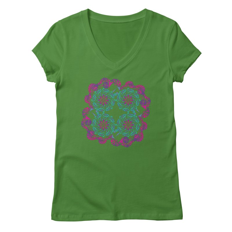 Shuffle Women's V-Neck by tomcornish's Artist Shop