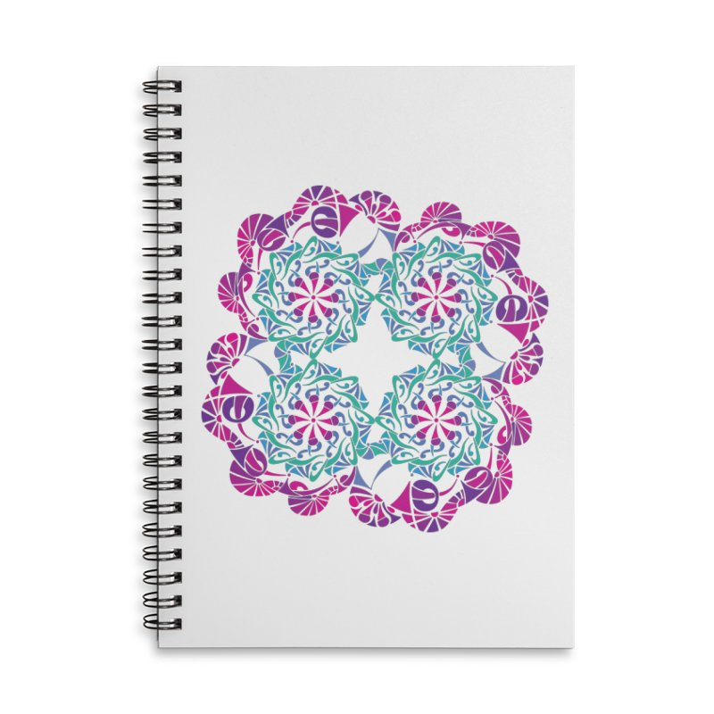 Shuffle Accessories Lined Spiral Notebook by tomcornish's Artist Shop
