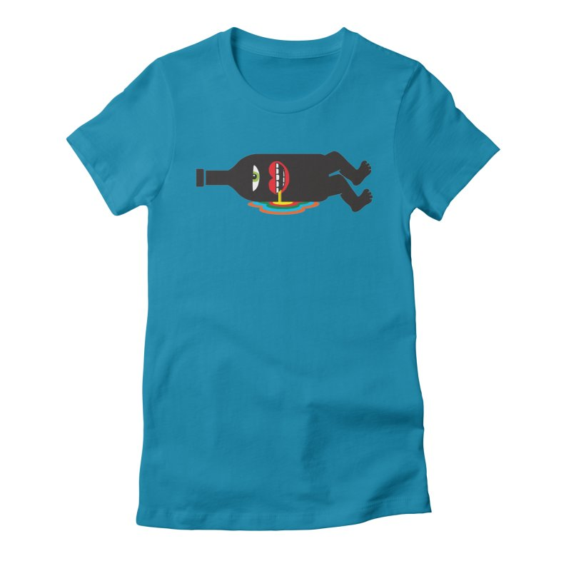 Drinking colors around. Women's Fitted T-Shirt by tomo77's Artist Shop