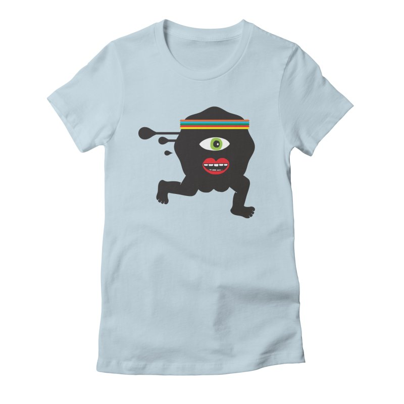 Run for your life. Women's Fitted T-Shirt by tomo77's Artist Shop
