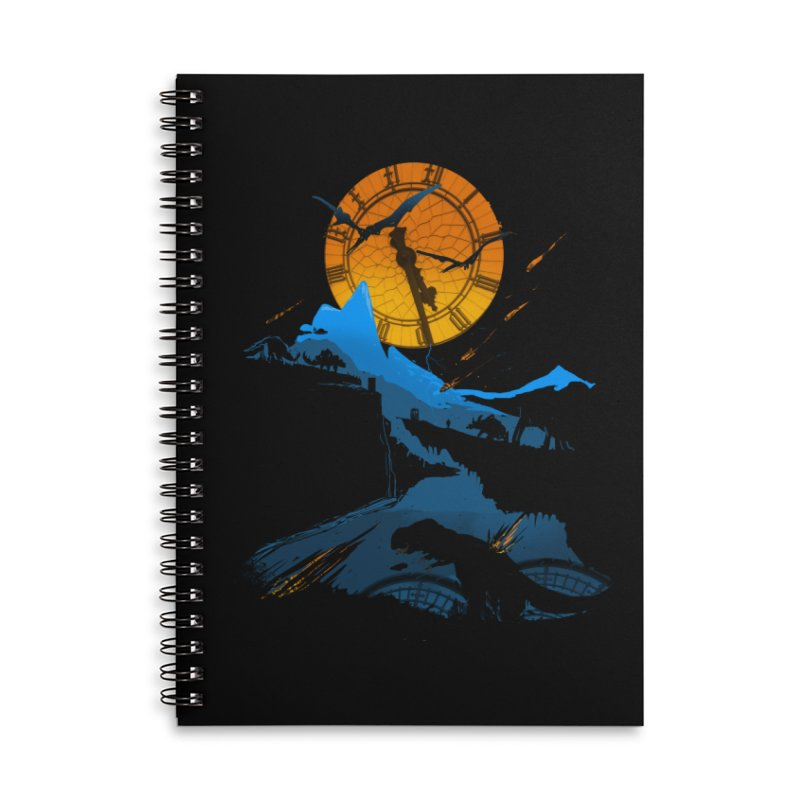 Last Days Accessories Lined Spiral Notebook by Thomas Orrow