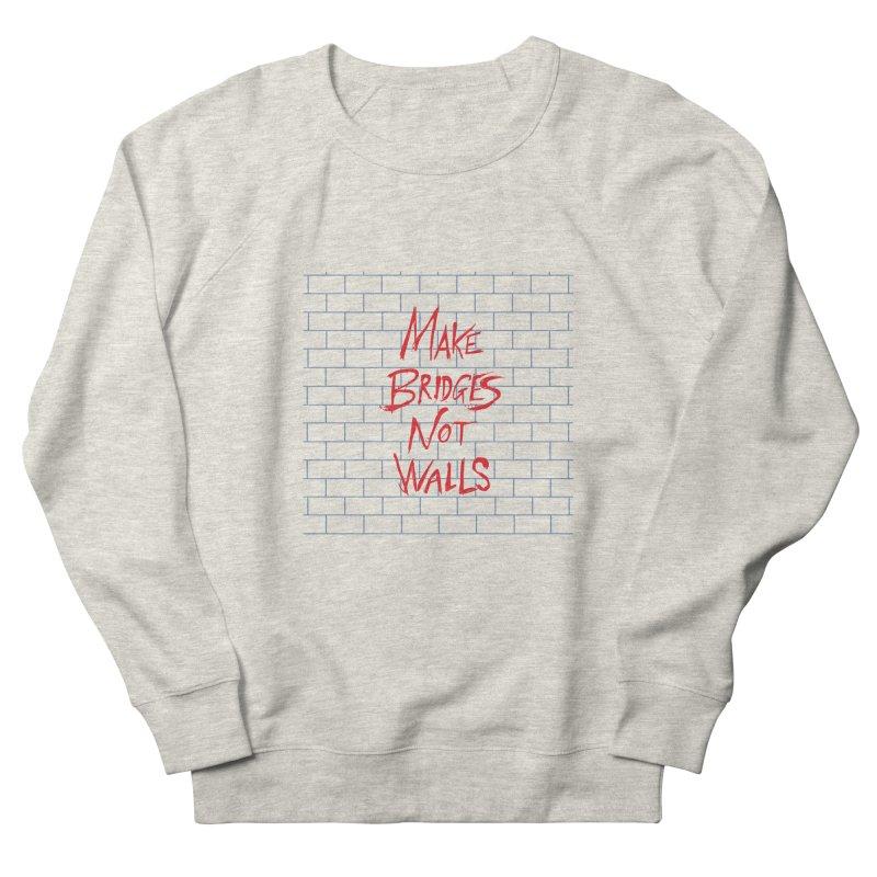 Make Bridges Not Walls Men's French Terry Sweatshirt by Thomas Orrow