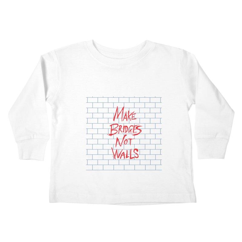Make Bridges Not Walls Kids Toddler Longsleeve T-Shirt by Thomas Orrow