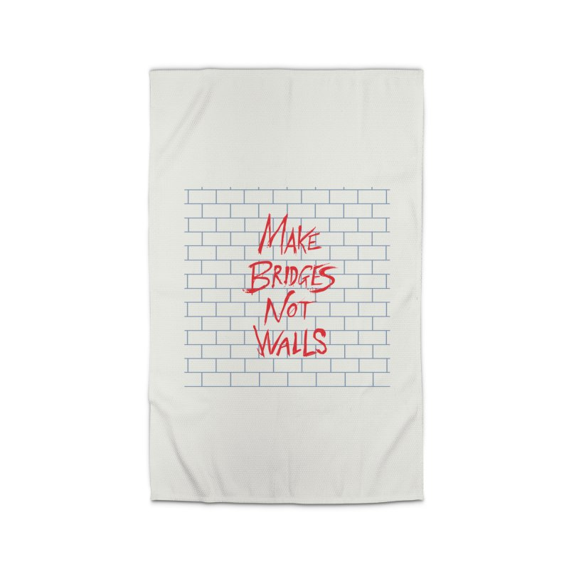 Make Bridges Not Walls Home Rug by Thomas Orrow