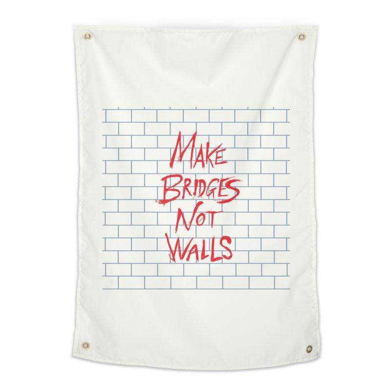 Make Bridges Not Walls Home Tapestry by Thomas Orrow