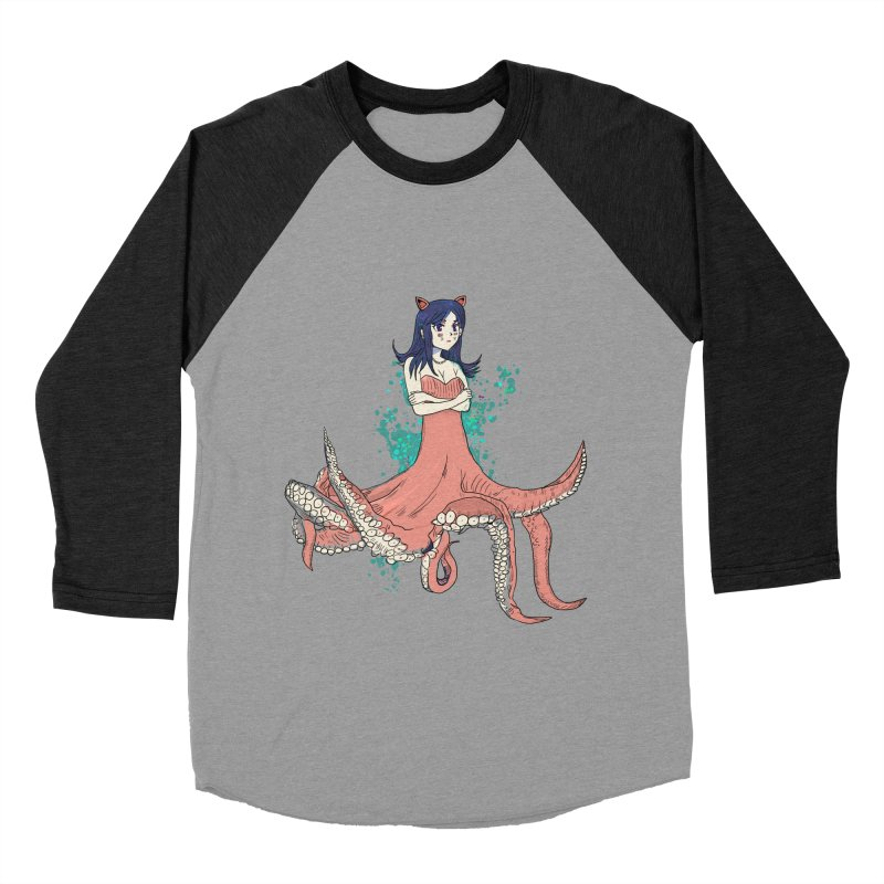 Tentacle Girl Women's Baseball Triblend Longsleeve T-Shirt by Thomas Orrow