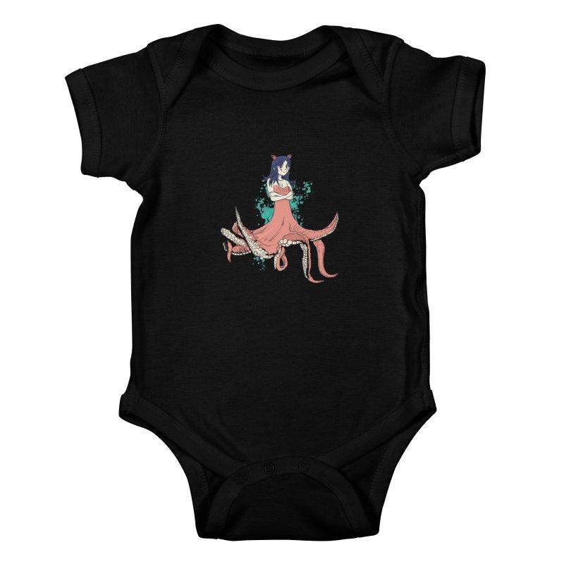 Tentacle Girl Kids Baby Bodysuit by Thomas Orrow