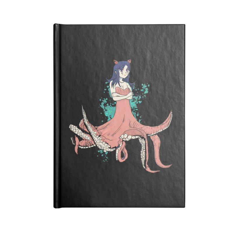 Tentacle Girl Accessories Lined Journal Notebook by Thomas Orrow