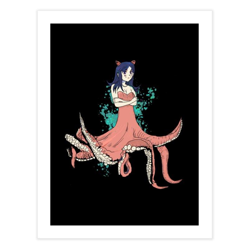 Tentacle Girl Home Fine Art Print by Thomas Orrow