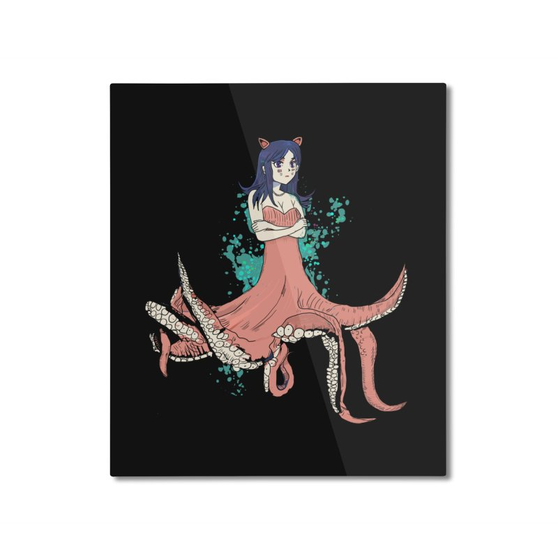 Tentacle Girl Home Mounted Aluminum Print by Thomas Orrow