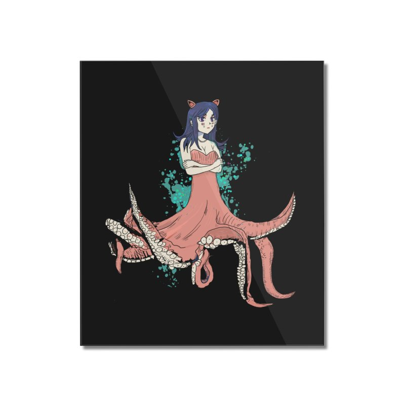 Tentacle Girl Home Mounted Acrylic Print by Thomas Orrow