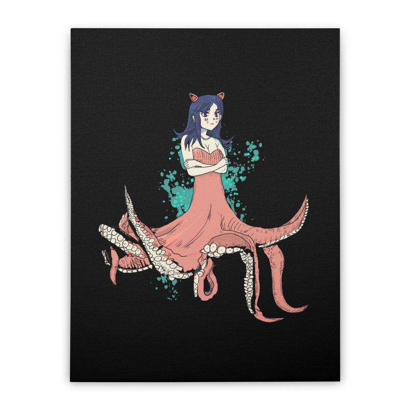 Tentacle Girl Home Stretched Canvas by Thomas Orrow