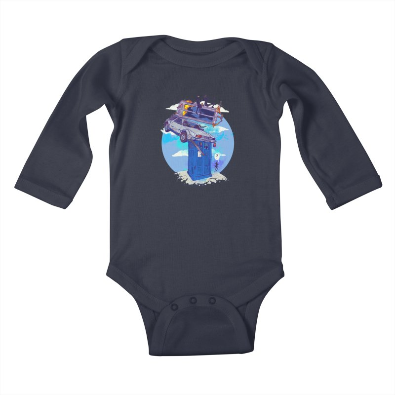 When Timelines Collide Kids Baby Longsleeve Bodysuit by Thomas Orrow