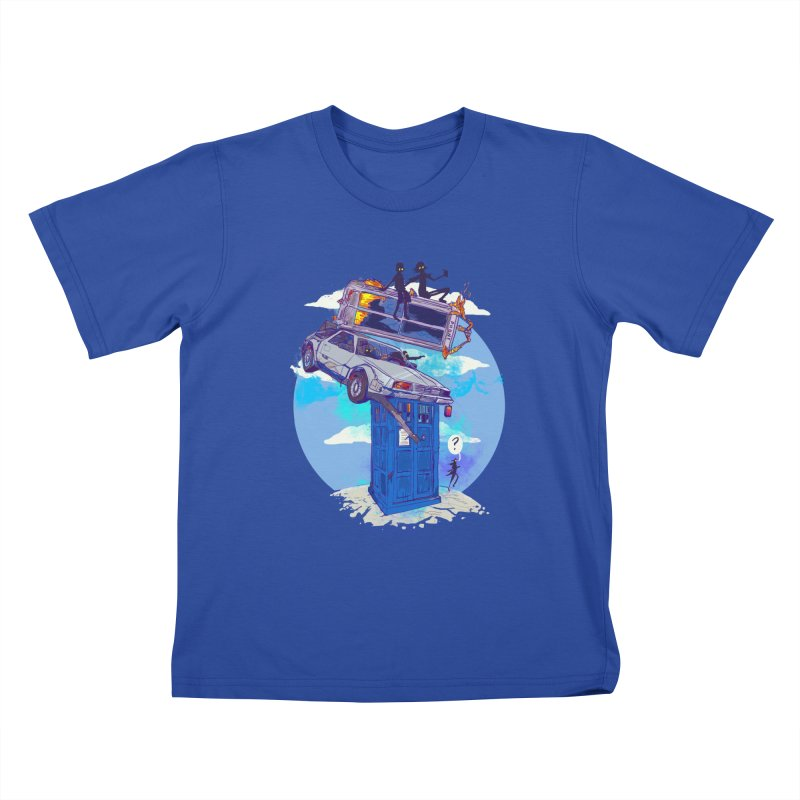 When Timelines Collide Kids T-Shirt by Thomas Orrow