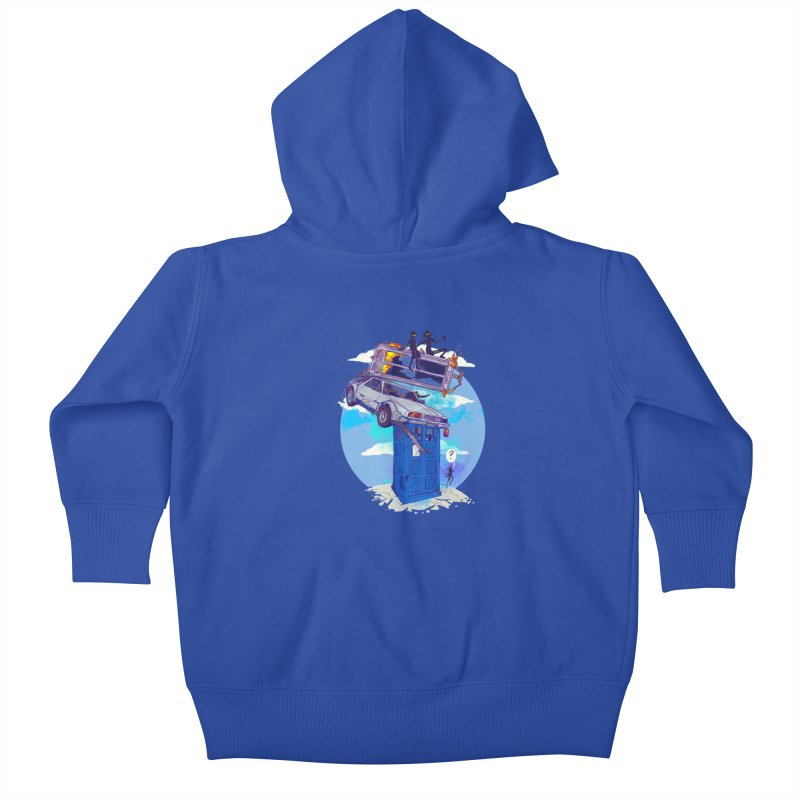 When Timelines Collide Kids Baby Zip-Up Hoody by Thomas Orrow