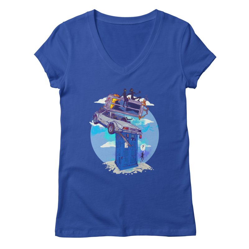 When Timelines Collide Women's Regular V-Neck by Thomas Orrow