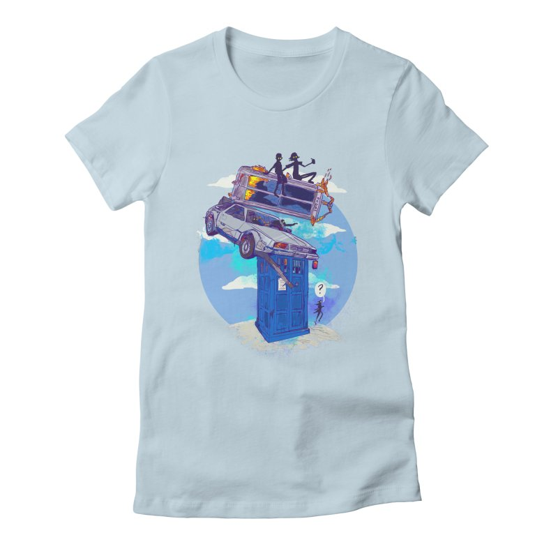 When Timelines Collide Women's Fitted T-Shirt by Thomas Orrow