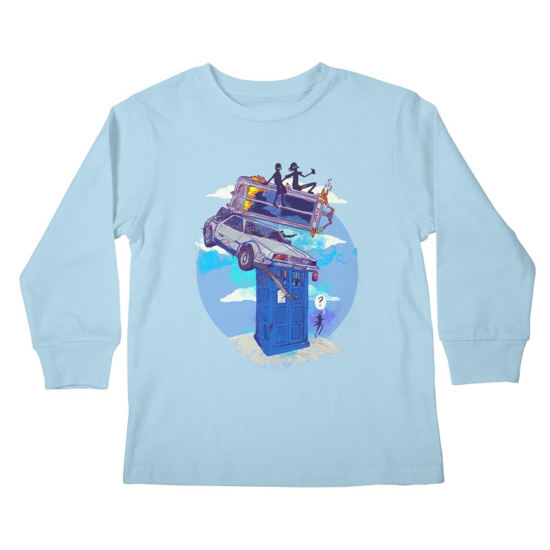 When Timelines Collide Kids Longsleeve T-Shirt by Thomas Orrow