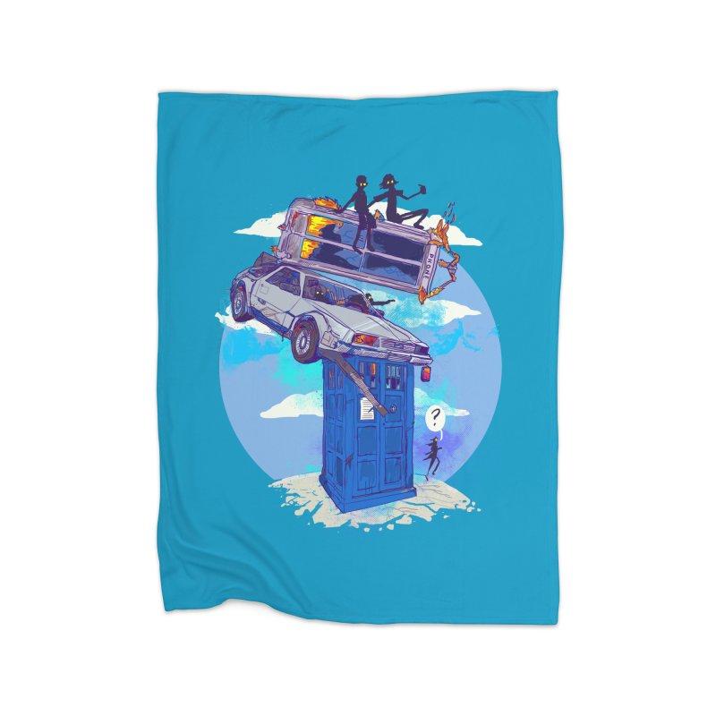 When Timelines Collide Home Fleece Blanket Blanket by Thomas Orrow