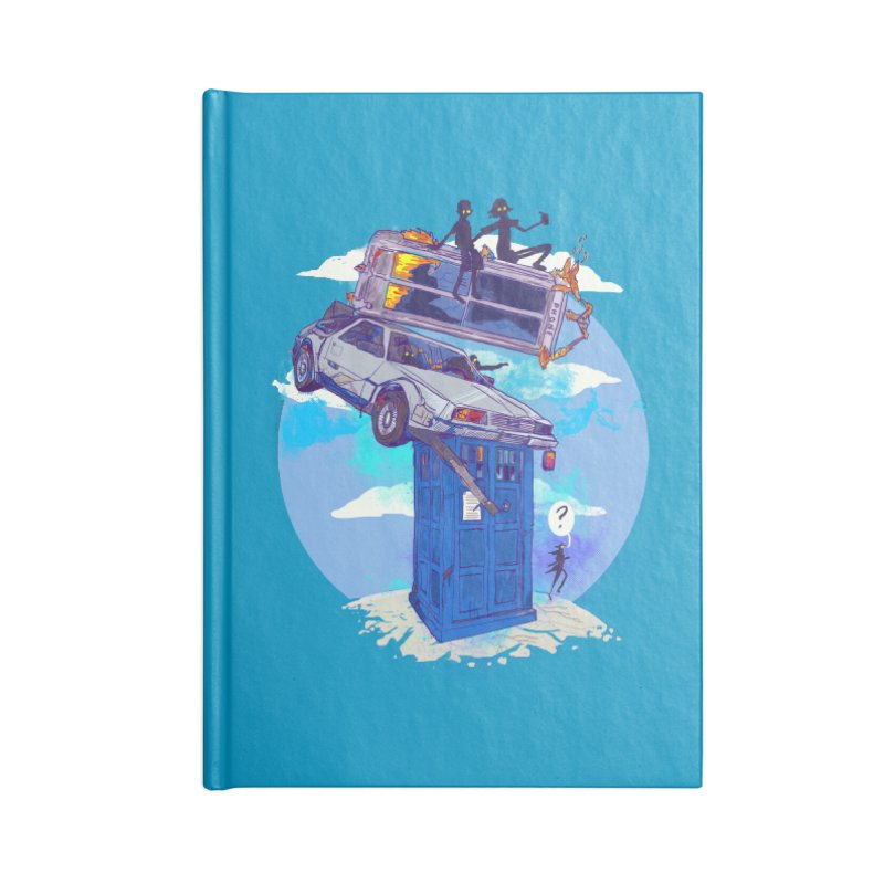 When Timelines Collide Accessories Lined Journal Notebook by Thomas Orrow