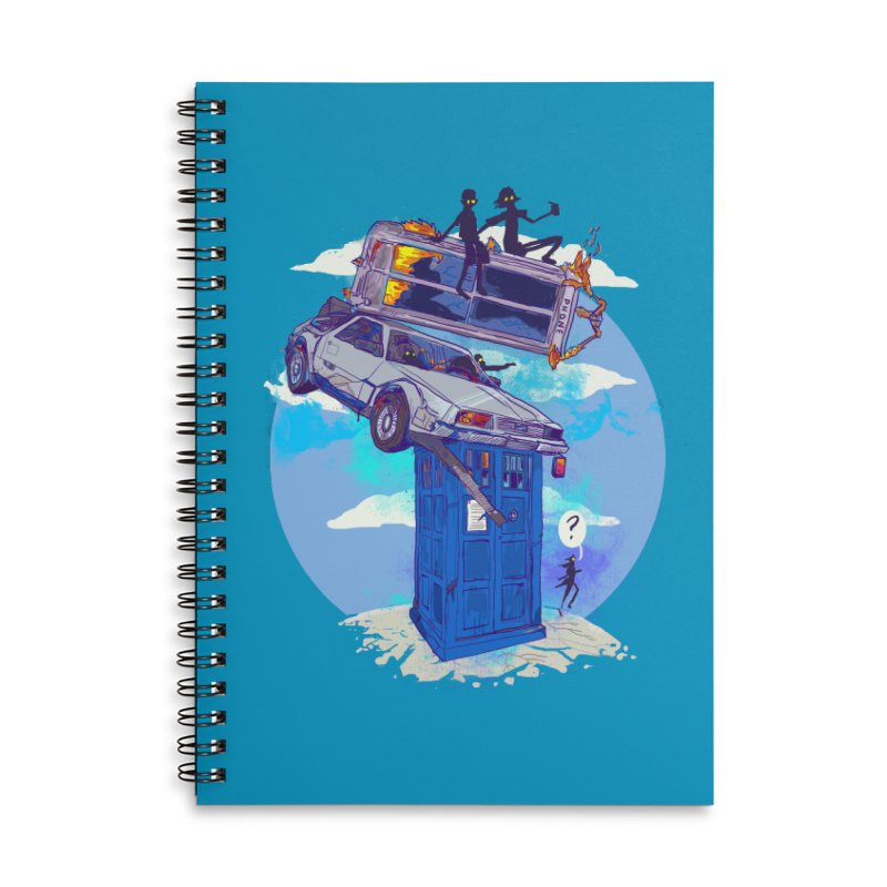 When Timelines Collide Accessories Lined Spiral Notebook by Thomas Orrow