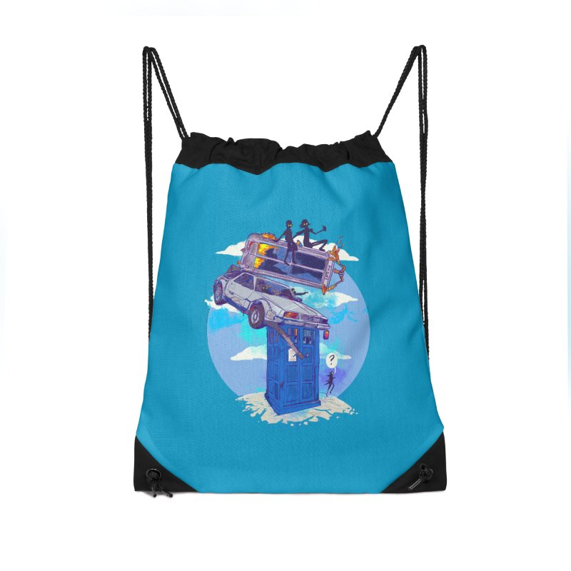 When Timelines Collide Accessories Drawstring Bag Bag by Thomas Orrow