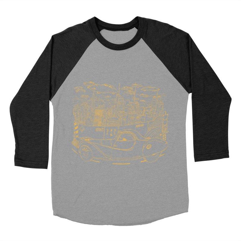 Deco Town Men's Baseball Triblend Longsleeve T-Shirt by Thomas Orrow