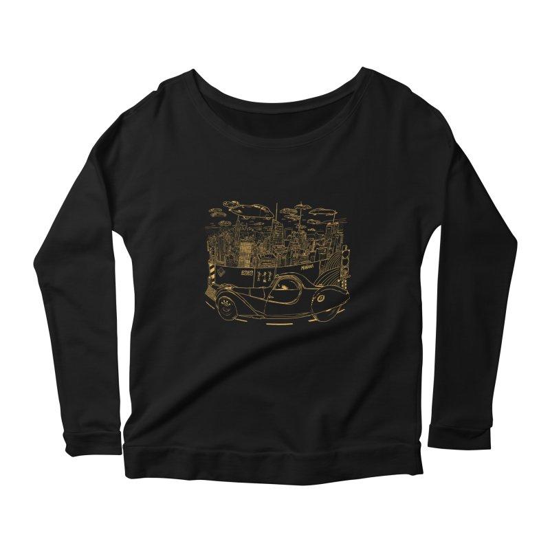 Deco Town Women's Scoop Neck Longsleeve T-Shirt by Thomas Orrow