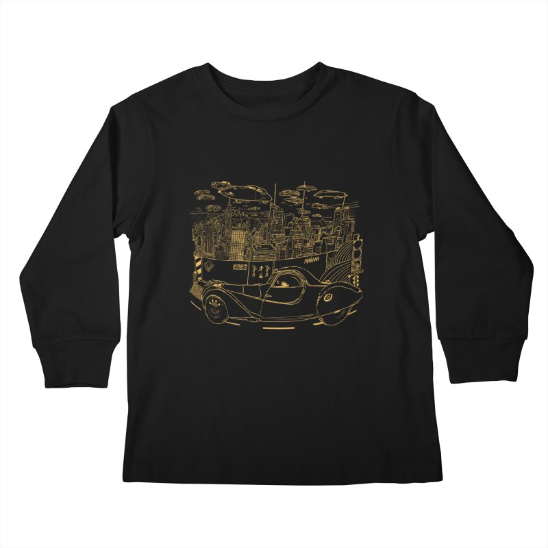 Deco Town Kids Longsleeve T-Shirt by Thomas Orrow