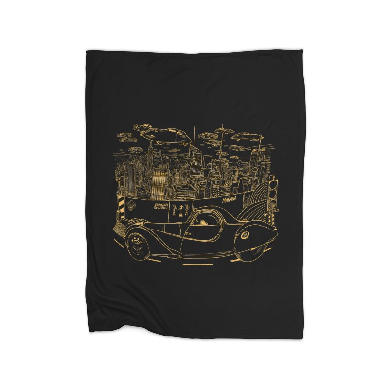 Deco Town Home Fleece Blanket Blanket by Thomas Orrow