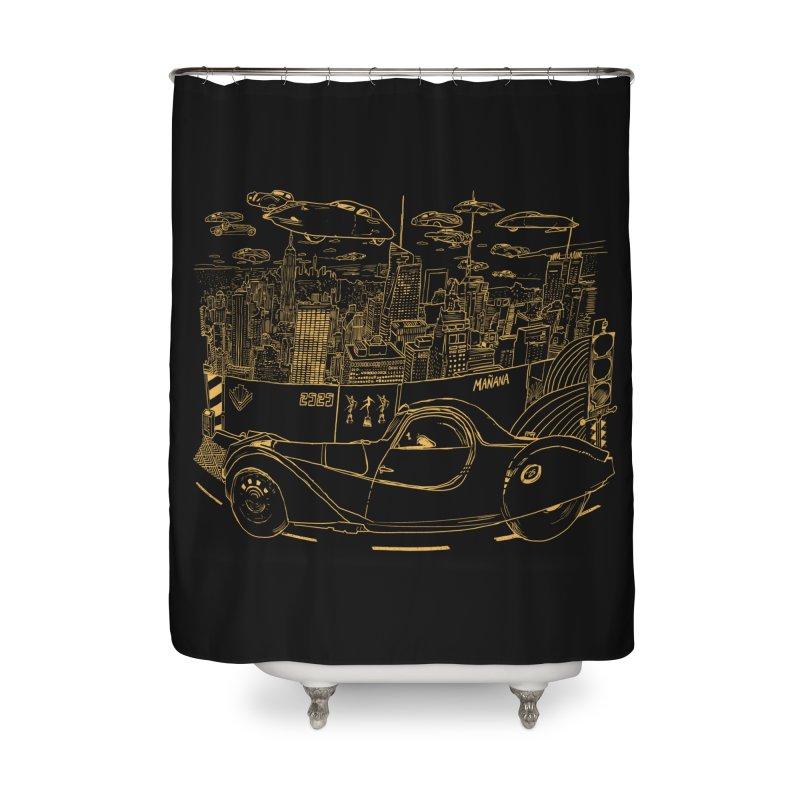 Deco Town Home Shower Curtain by Thomas Orrow