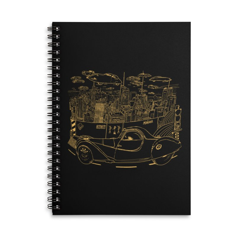 Deco Town Accessories Lined Spiral Notebook by Thomas Orrow