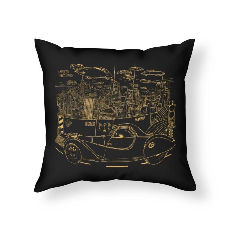 Deco Town Home Throw Pillow by Thomas Orrow