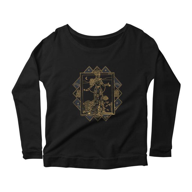 Virtua Deco Women's Scoop Neck Longsleeve T-Shirt by Thomas Orrow