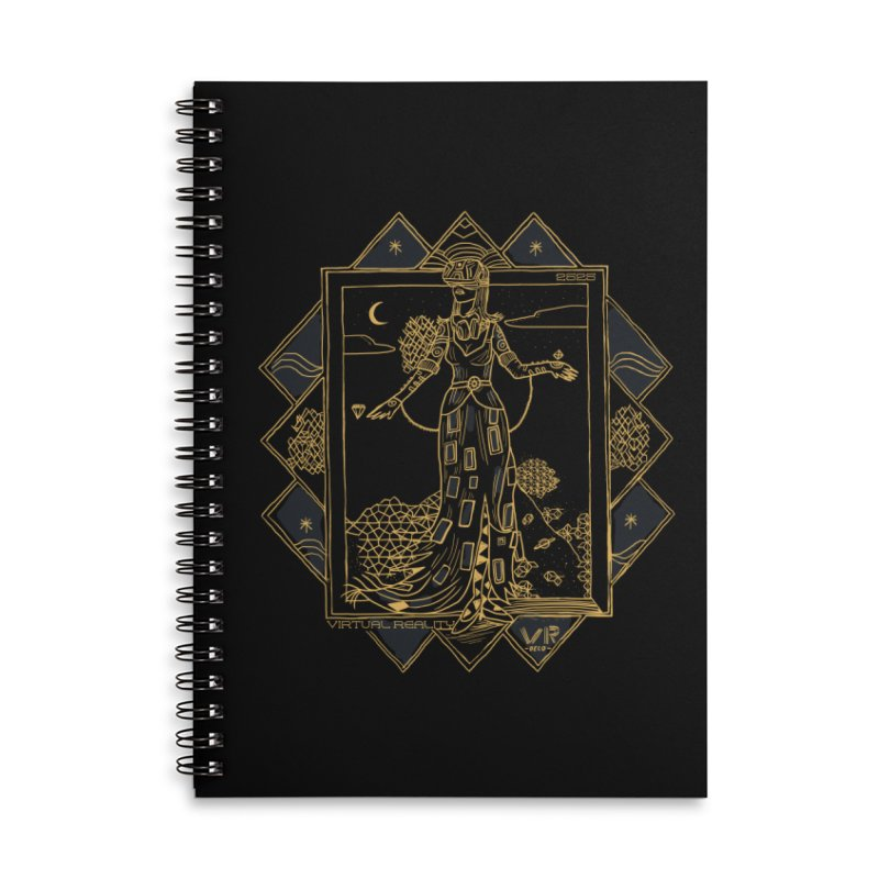 Virtua Deco Accessories Lined Spiral Notebook by Thomas Orrow