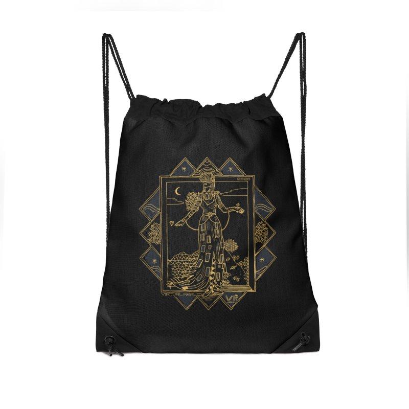 Virtua Deco Accessories Drawstring Bag Bag by Thomas Orrow