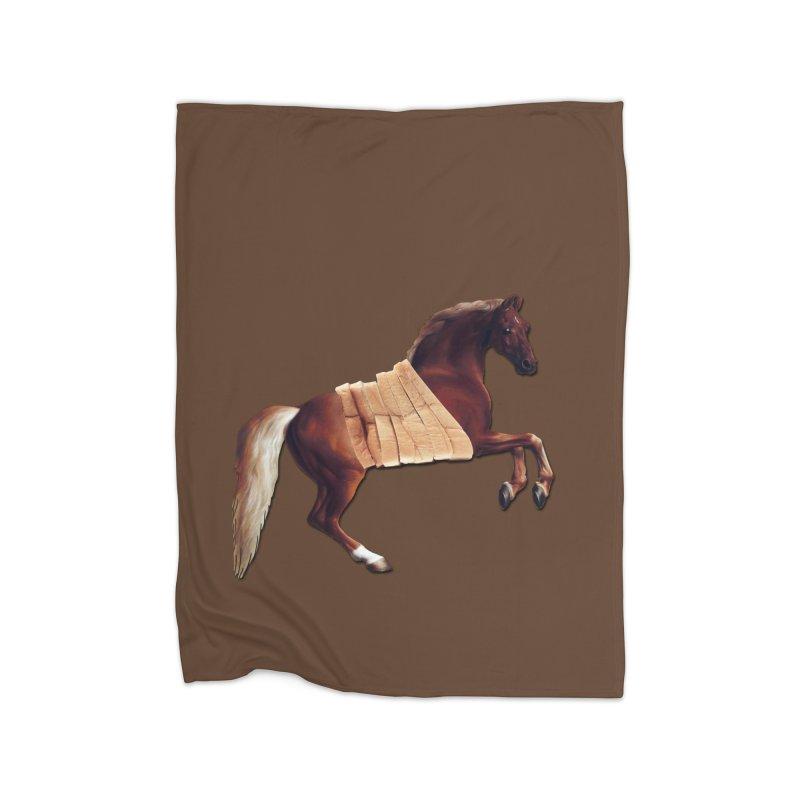 Thoroughbred Home Fleece Blanket Blanket by Thomas Orrow