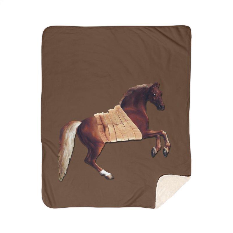 Thoroughbred Home Sherpa Blanket Blanket by Thomas Orrow