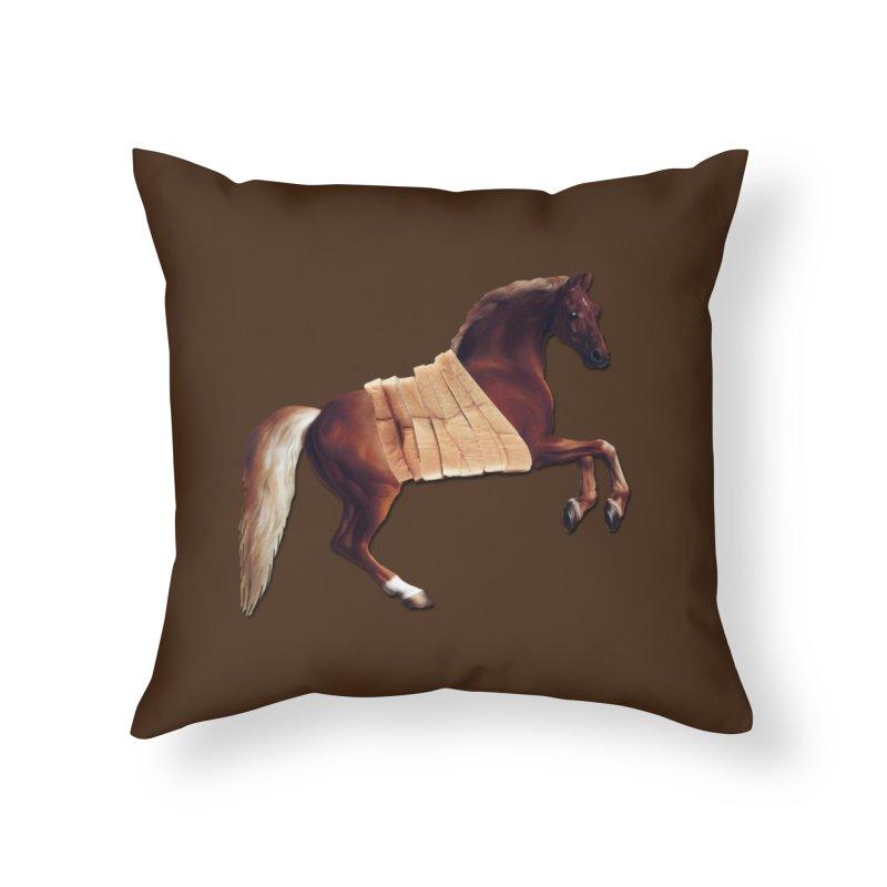 Thoroughbred Home Throw Pillow by Thomas Orrow