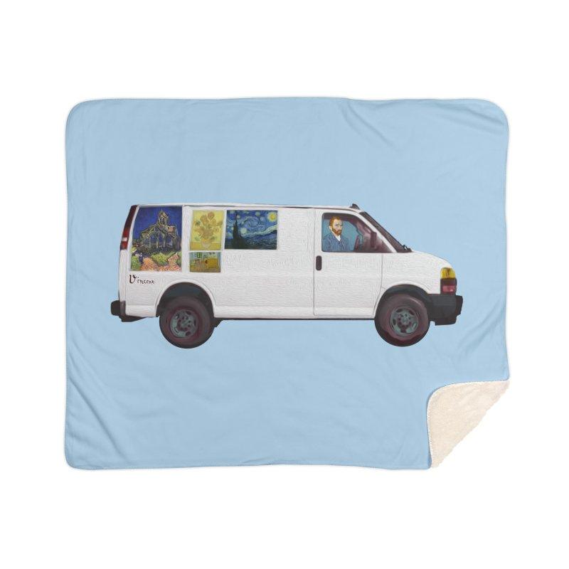Van Gogh Home Sherpa Blanket Blanket by Thomas Orrow