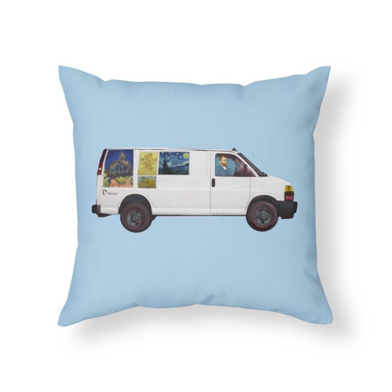 Van Gogh Home Throw Pillow by Thomas Orrow