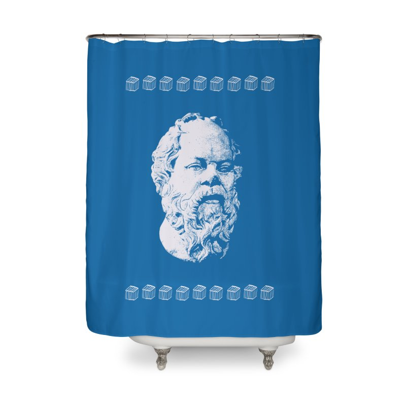 So Crates Home Shower Curtain by Thomas Orrow