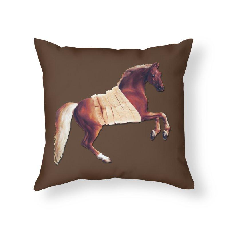 Thoroughbread Home Throw Pillow by Thomas Orrow