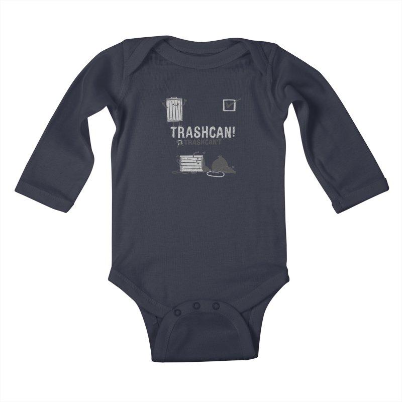 Trashcan! Trashcan't Kids Baby Longsleeve Bodysuit by Thomas Orrow