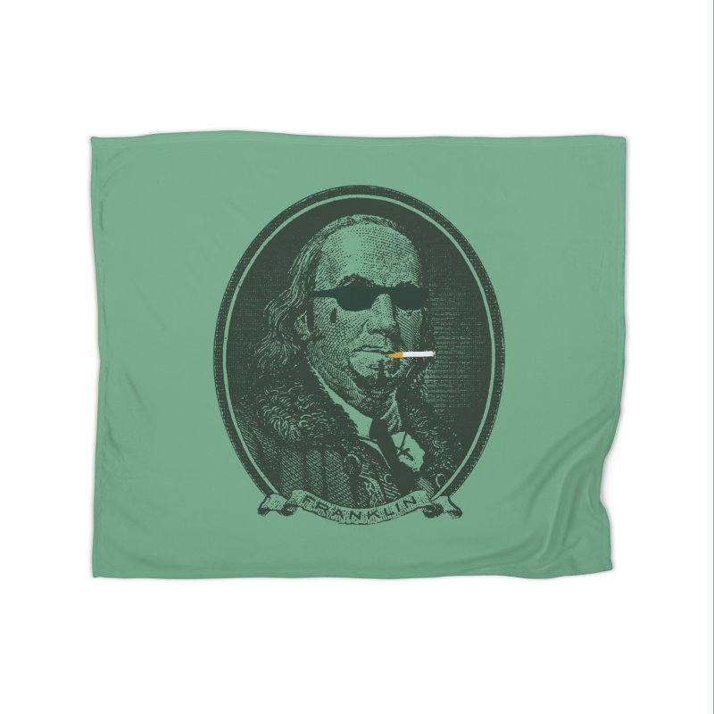 All About Da Benjamins Home Fleece Blanket Blanket by Thomas Orrow