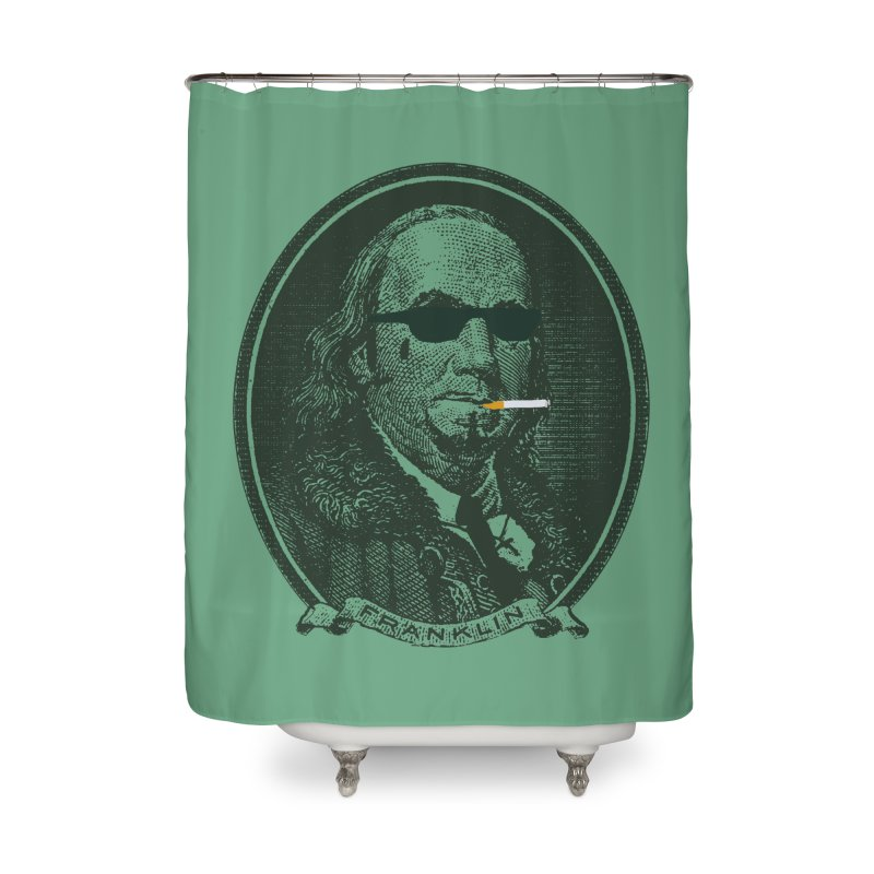 All About Da Benjamins Home Shower Curtain by Thomas Orrow