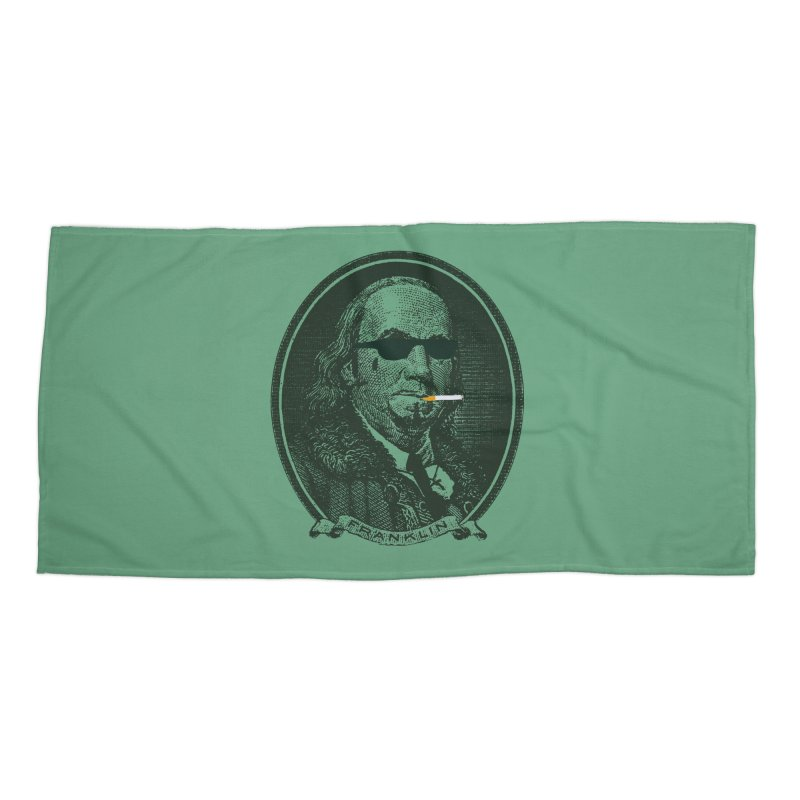 All About Da Benjamins Accessories Beach Towel by Thomas Orrow