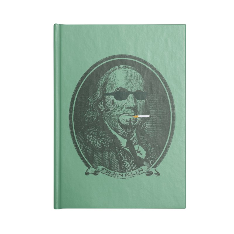 All About Da Benjamins Accessories Blank Journal Notebook by Thomas Orrow