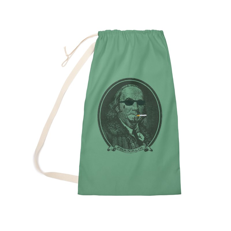 All About Da Benjamins Accessories Laundry Bag Bag by Thomas Orrow