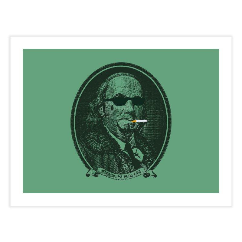 All About Da Benjamins Home Fine Art Print by Thomas Orrow